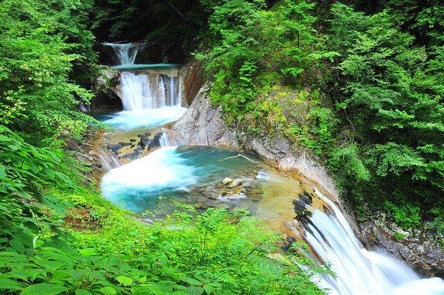 5段階の滝
