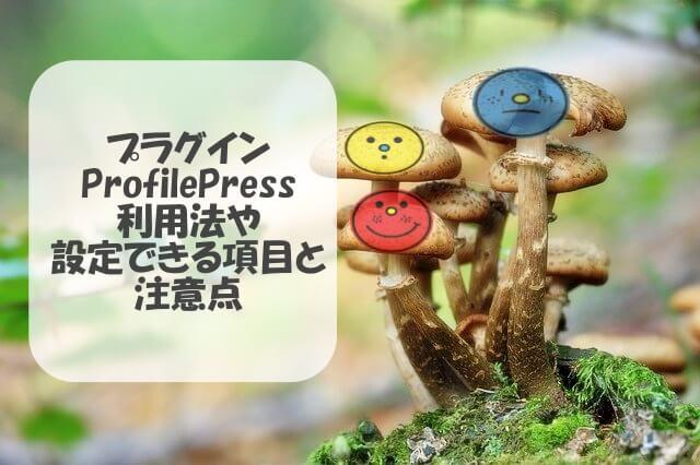 ProfilePressは何のプラグイン?利用法や設定できる項目と注意点
